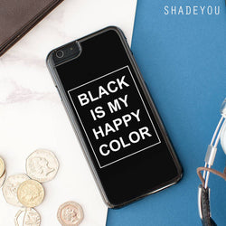 Skam Sana Black Is My Happy Color iphone case