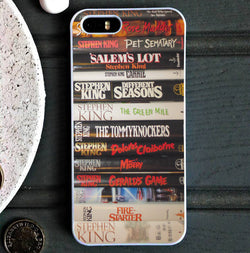 Stephen King Books - iPhone 6/6S Case, iPhone 5/5S Case, iPhone 5C Case plus Samsung Galaxy S4 S5 S6 Edge Cases