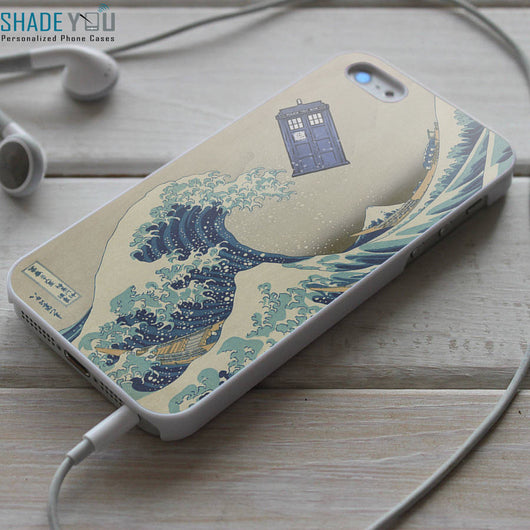 Tardis the Great Wave - iPhone 4/4S, iPhone 5/5S/5C, iPhone 6 Case, Samsung Galaxy S4/S5 Cases