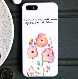 Taylor Swift Clean Watercolor Flowers - iPhone 6/6S Case, iPhone 6/6S Plus, iPhone 5 5S SE, Nexus, HTC M9, LG G5, Samsung Galaxy S5 S6 S7 Edge Cases