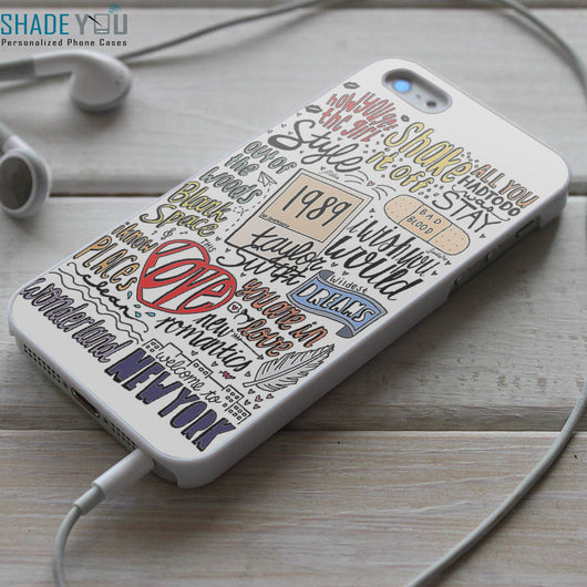 Taylor Swift 1989 Lyrics - iPhone 4/4S, iPhone 5/5S/5C, iPhone 6 Case, Samsung Galaxy S4/S5 Cases