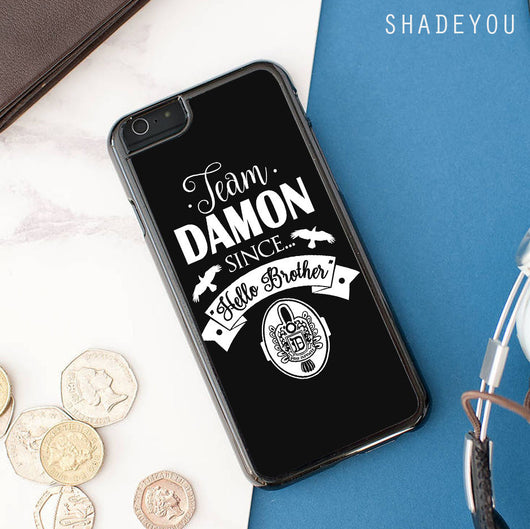 Team Damon Since Hello Brother The Vampire Diaries iphone cases
