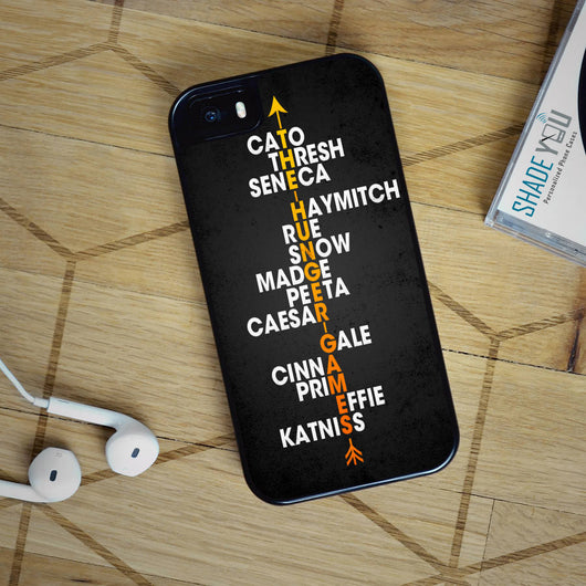 The Hunger Games Names - iPhone 4/4S, iPhone 5/5S/5C, iPhone 6 Case, Samsung Galaxy S4/S5/S6 Edge Cases