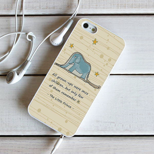 The Little Prince Quotes - iPhone 4, iPhone 5 5S 5C, iPhone 6 Case, plus Samsung Galaxy S4 S5 S6 Edge Cases