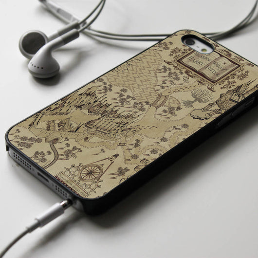 The Wizarding World of Harry Potter map - iPhone 4/4S, iPhone 5/5S/5C, iPhone 6 Case, Samsung Galaxy S4/S5 Cases