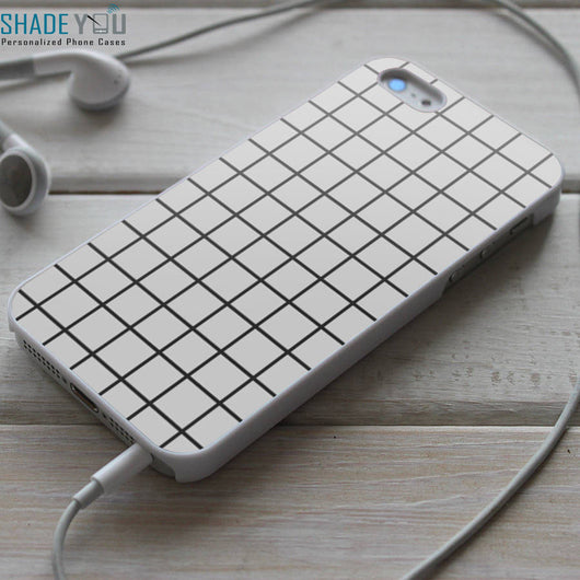 Tumblr Grid White Pattern - iPhone 4/4S, iPhone 5/5S/5C, iPhone 6 Case, Samsung Galaxy S4/S5 Cases