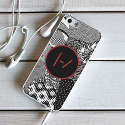 Twenty One Pilots Blurryface Patterns - iPhone 6 Case, iPhone 5C Case, iPhone 5S Case, plus Samsung Galaxy S4 S5 S6 Edge Cases