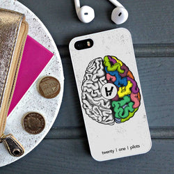 Twenty One Pilots Brain - iPhone 6 Case, iPhone 5S Case, iPhone 5C Case plus Samsung Galaxy S4 S5 S6 Edge Cases