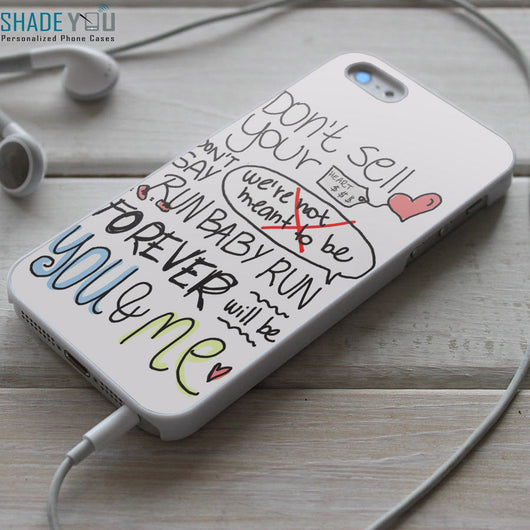 We The Kings Lyrics - iPhone 4/4S, iPhone 5/5S/5C, iPhone 6 Case, Samsung Galaxy S4/S5 Case
