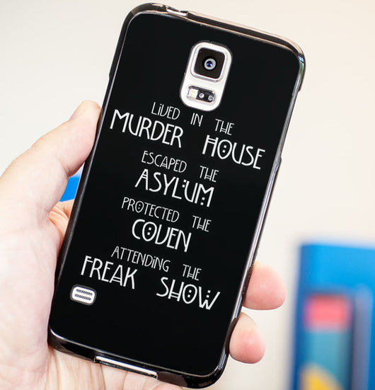 American Horror Story Four Seasons Quotes - Plastic / Rubber Samsung Galaxy S3 S4 S5 and Note 3 Cases