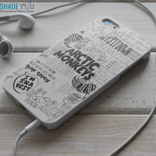 Arctic Monkeys Lyrics iPhone 4/4S, iPhone 5/5S/5C, iPhone 6 Case, Samsung Galaxy S4/S5 Cases