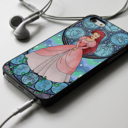 Ariel Stained Glass iPhone 4/4S, iPhone 5/5S, iPhone 5C Case, Samsung Galaxy S4/S5 Cases