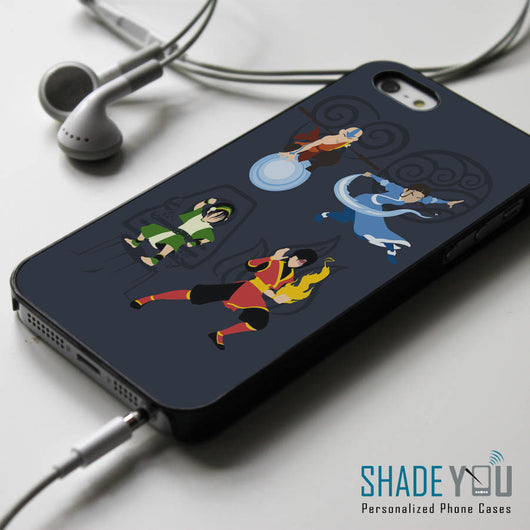 Avatar Aang Zuko Katara Toph iPhone 4/4S, iPhone 5/5S, iPhone 5C Case, Samsung Galaxy S4/S5 Cases