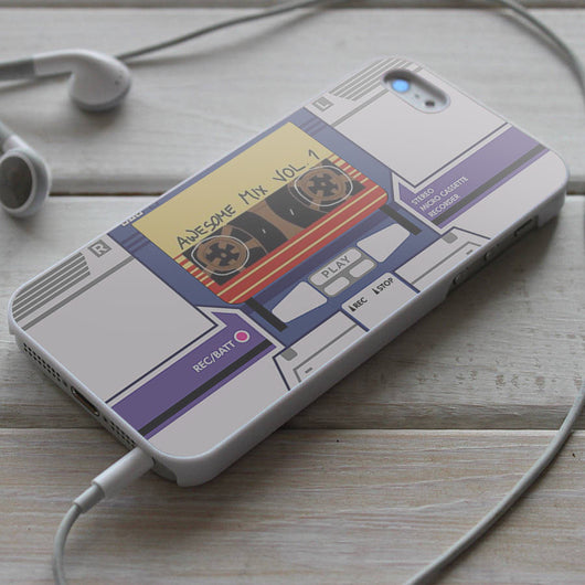 Soundwave G1 Awesome Mix Vol. 1 Casette Transformers - GOTG iPhone 4/4S, iPhone 5/5S, iPhone 5C Case, Samsung Galaxy S4/S5 Cases