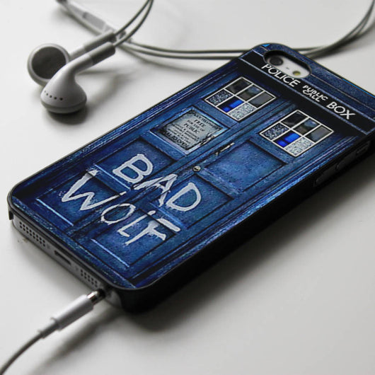 Bad Wolf Tardis - Dr. Who iPhone 4/4S, iPhone 5/5S/5C, iPhone 6 Case, Samsung Galaxy S4/S5 Cases