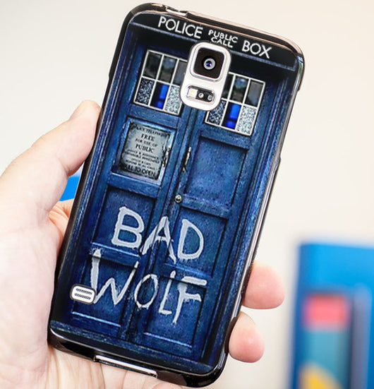Doctor Who Tardis Bad Wolf Cover - Plastic / Rubber Samsung Galaxy S3 S4 S5 and Note 3 Cases