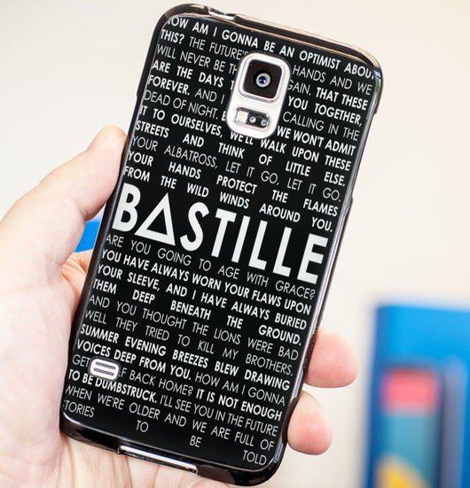Bastille Lyrics 3 Pompeii - Plastic / Rubber Samsung Galaxy S3 S4 S5 and Note 3 Cases