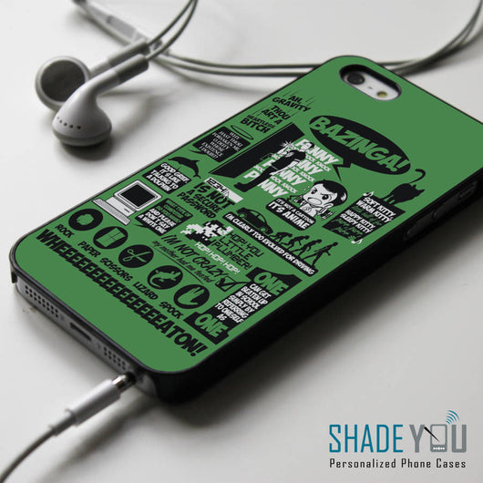 Big Bang Theory Collage Quotes iPhone 4/4S, iPhone 5/5S, iPhone 5C Case, Samsung Galaxy S4/S5 Cases