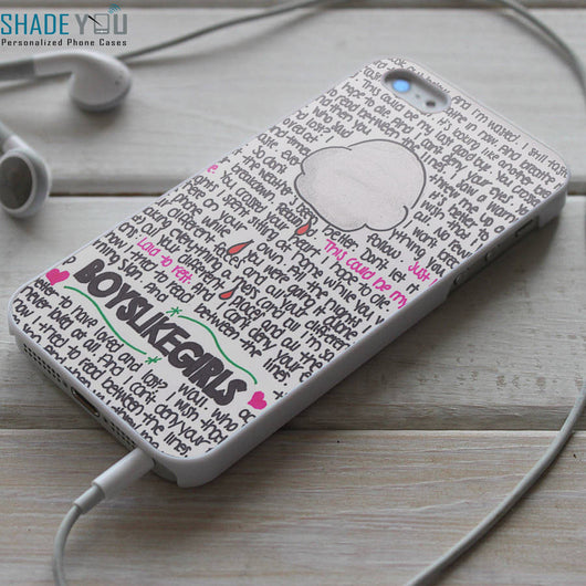 Boys Like Girls Lyrics iPhone 4/4S, iPhone 5/5S/5C, iPhone 6 Case, Samsung Galaxy S4/S5 Cases