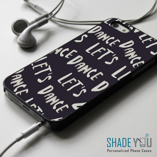 David Bowie Let's Dance Lyrics iPhone 4/4S, iPhone 5/5S/5C, iPhone 6 Case, Samsung Galaxy S4/S5 Cases
