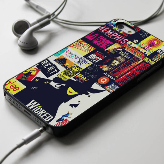 Broadway Musicals Collage - iPhone 4/4S, iPhone 5/5S, iPhone 5C Case, Samsung Galaxy S4/S5 Cases