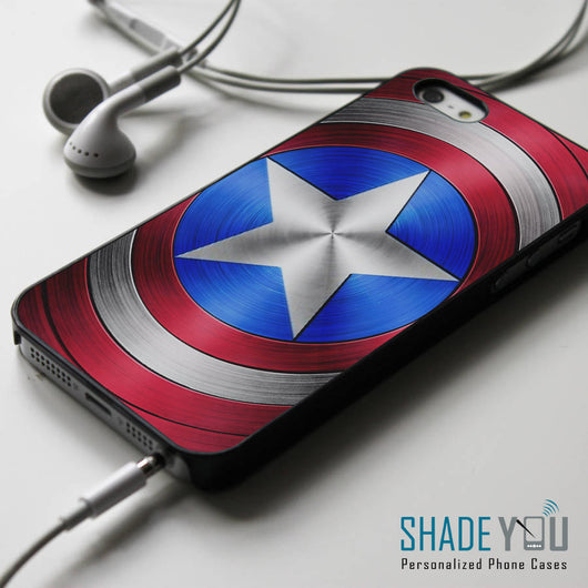 Captain America's Shield - iPhone 4/4S, iPhone 5/5S/5C, iPhone 6 Case, Samsung Galaxy S4/S5 Cases