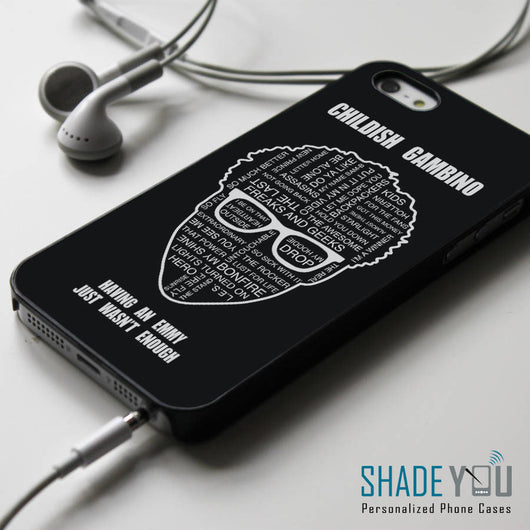 Childish Gambino Lyrics - iPhone 4/4S, iPhone 5/5S/5C, iPhone 6 Case, Samsung Galaxy S4/S5 Cases