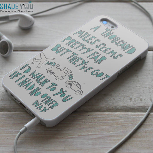 Plain White T's Hey There Delilah Lyrics iPhone 4/4S, iPhone 5/5S/5C, iPhone 6 Case, Samsung Galaxy S4/S5 Cases
