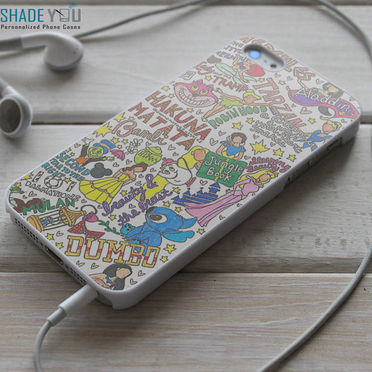 Disney Princess Collage - iPhone 4/4S, iPhone 5/5S, iPhone 5C Case, Samsung Galaxy S4/S5 Cases