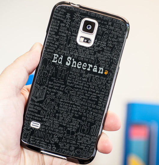 Ed Sheeran Lyrics Black - Plastic / Rubber Samsung Galaxy S3 S4 S5 and Note 3 Cases
