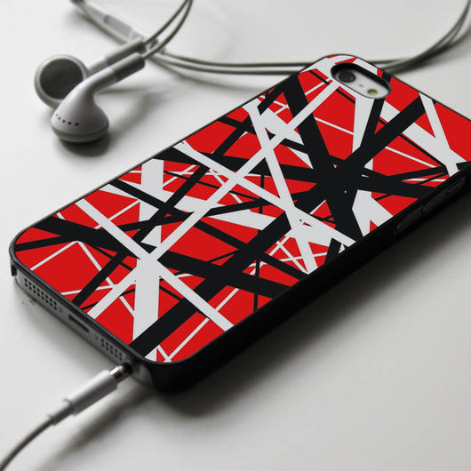 Eddie Van Halen Guitar Pattern - iPhone 4/4S, iPhone 5/5S/5C, iPhone 6 Case, Samsung Galaxy S4/S5 Cases