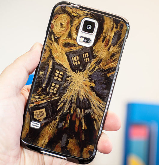 Doctor Who Exploded Tardis Van Gogh - Plastic / Rubber Samsung Galaxy S3 S4 S5 and Note 3 Cases