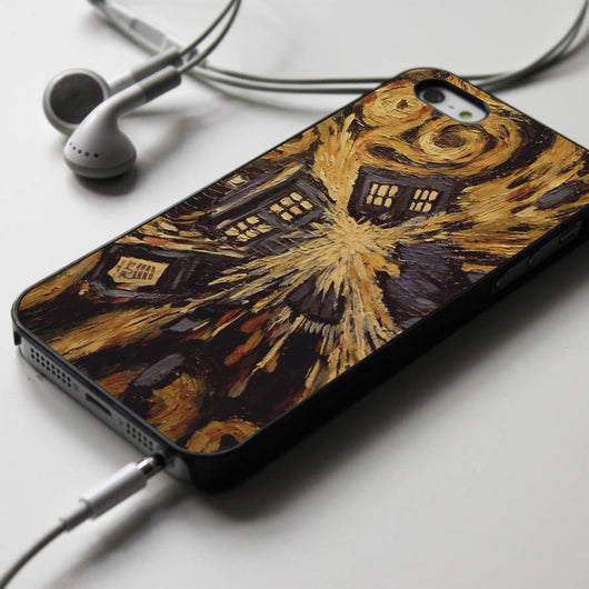 Exploded Tardis - Van Gogh iPhone 4/4S, iPhone 5/5S/5C, iPhone 6 Case, Samsung Galaxy S4/S5 Cases