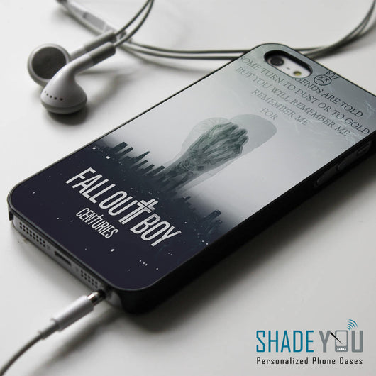 Fall Out Boy Centuries Lyrics iPhone 4/4S, iPhone 5/5S/5C, iPhone 6 Case, Samsung Galaxy S4/S5 Cases
