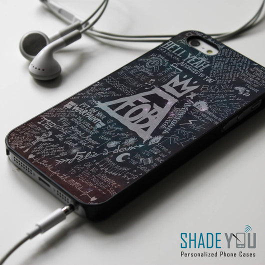 Fall Out Boy Lyrics Space Nebula iPhone 4/4S, iPhone 5/5S/5C, iPhone 6 Case, Samsung Galaxy S4/S5 Cases