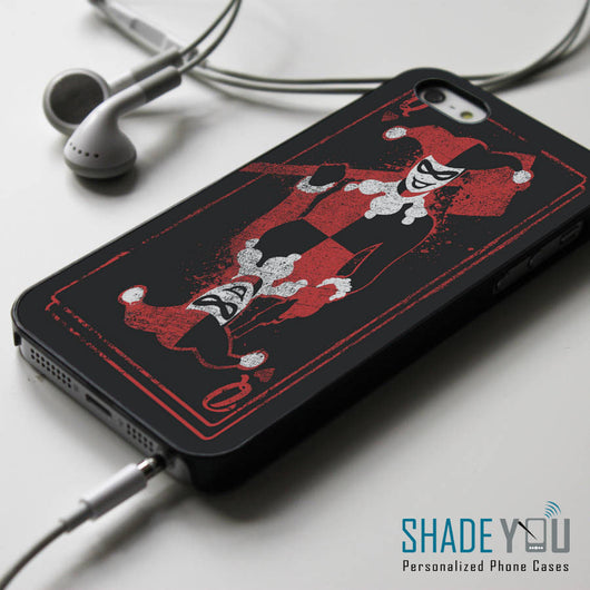 Harley Quinn Poker Card iPhone 4/4S, iPhone 5/5S/5C, iPhone 6 Case, Samsung Galaxy S4/S5 Cases