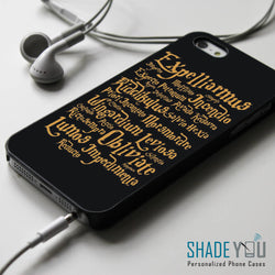 Harry Potter Spells 2 - iPhone 4/4S, iPhone 5/5S/5C, iPhone 6 Case, Samsung Galaxy S4/S5 Cases