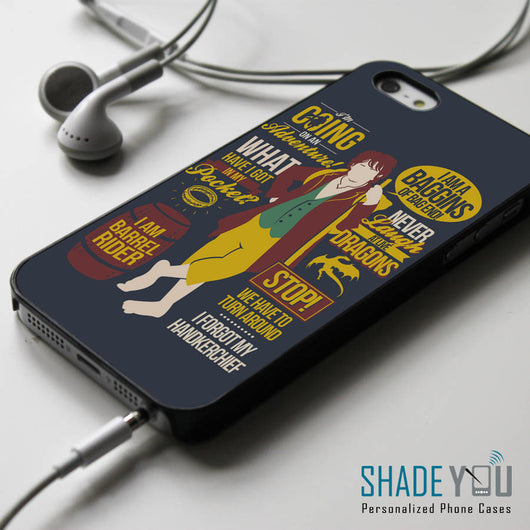 The Hobbit Collage Quotes iPhone 4/4S, iPhone 5/5S, iPhone 5C Case, Samsung Galaxy S4/S5 Cases