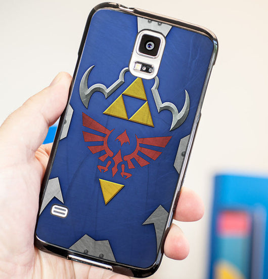 Legend of Zelda Hylian Shield Triforce - Plastic / Rubber Samsung Galaxy S3 S4 S5 and Note 3 Cases