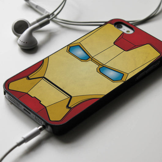 Iron Man Mask - Superhero iPhone 4/4S, iPhone 5/5S, iPhone 5C Case, Samsung Galaxy S4/S5 Cases