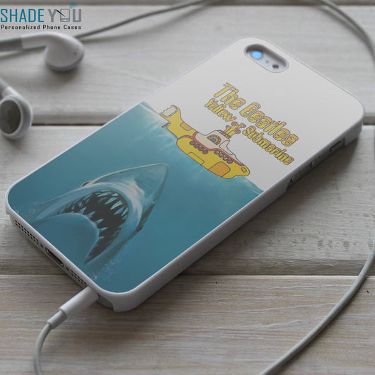 Jaws The Beatles Yellow Submarine Shark iPhone 4/4S, iPhone 5/5S/5C, iPhone 6 Case, Samsung Galaxy S4/S5 Cases