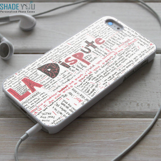 La Dispute Collage Lyrics iPhone 4/4S, iPhone 5/5S/5C, iPhone 6 Case, Samsung Galaxy S4/S5 Cases