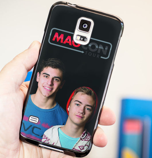 Jack Johnson and Jack Gilinsky Magcon Boys - Plastic / Rubber Samsung Galaxy S3 S4 S5 and Note 3 Cases