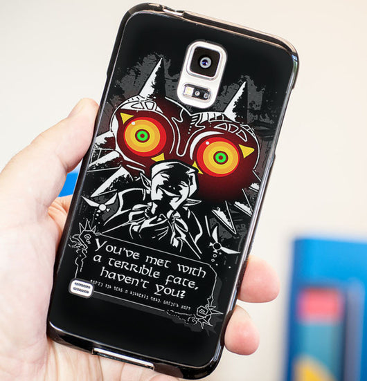 Legend of Zelda Majora's Mask Quotes - Plastic / Rubber Samsung Galaxy S3 S4 S5 and Note 3 Cases