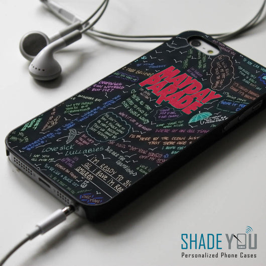 Mayday Parade Lyrics - iPhone 4/4S, iPhone 5/5S/5C, iPhone 6 Case, Samsung Galaxy S4/S5 Cases
