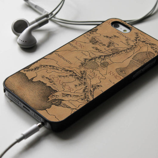 Middle Earth Map - The Hobbit iPhone 4/4S, iPhone 5/5S/5C, iPhone 6 Case, Samsung Galaxy S4/S5 Cases
