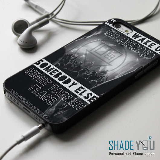 The Neighbourhood Afraid Lyrics NBHD iPhone 4/4S, iPhone 5/5S/5C, iPhone 6 Case, Samsung Galaxy S4/S5 Cases