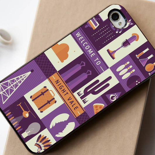 Welcome to Night Vale collage - iPhone 4/4S, iPhone 5/5S, iPhone 5C Case, Samsung Galaxy S4/S5 Case