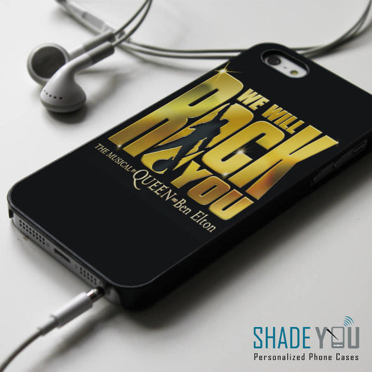 Queen We Will Rock You iPhone 4/4S, iPhone 5/5S/5C, iPhone 6 Case, Samsung Galaxy S4/S5 Cases
