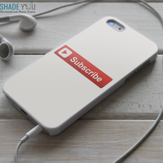 Youtube Subscribe Button - iPhone 4/4S, iPhone 5/5S/5C, iPhone 6 Case, Samsung Galaxy S4/S5 Cases